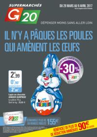 Prospectus G20 PARIS 1 Louvre : Il n'y a Pâques les poules qui amènent les œufs
