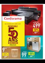 Prospectus Conforama : Incroyable 50 ans Meuble & Déco