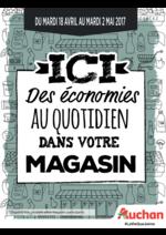 Prospectus Auchan : Ici des économies au quotidien