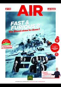Journaux et magazines McDonald's - VERSAILLES : Air le Mag du mois de Avril 2017