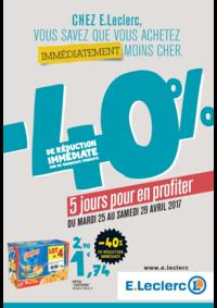 Prospectus E.Leclerc SAINT NICOLAS DE REDON : -40% de réduction immédiate