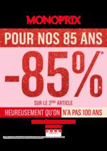 Prospectus Monoprix : -85% sur le 2ème article