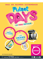 Promos et remises  : Pulsat Days - Le vrai retour