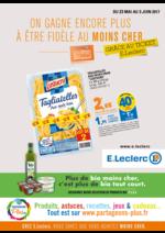 Prospectus E.Leclerc : On gagne encore plus à être fidèle au moins cher