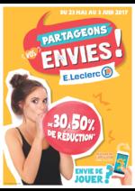 Prospectus E.Leclerc : De 30% à 50% de réduction