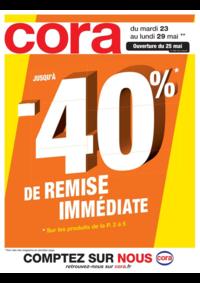 Prospectus Cora FORBACH : Jusqu'à -40% de remise immédiate