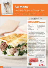Prospectus Colruyt JAMBES : Au menu, une recette pour chaque jour