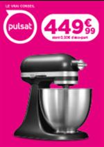 Promos et remises  : 449€ Le robot ménager KitchenAid 5KSM3311XEBM