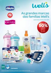 Folhetos Well's Saúde Alhos Vedros : As grandes marcas das famílias Well's