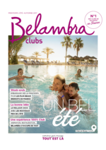 Catalogues et collections  : Belambra clubs été 2017