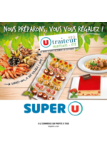 Menus Super U : La carte traiteur U printemps été