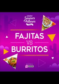 Prospectus Supermarchés Casino Le Blanc-Mesnil : Fajitas VS Burritos