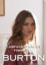 Catalogues et collections Burton : Campagne Plein été femme 2017