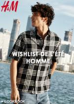 Catalogues et collections H&M : Lookbook homme Wishlist de l'été