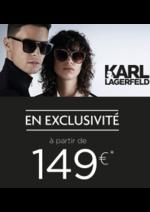 Catalogues et collections Optic 2000 : Lunettes Karl Lagerfeld à partir de 149€