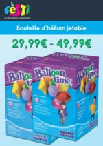 Catalogues et collections  : Bouteilles d'hélium pour vos fêtes
