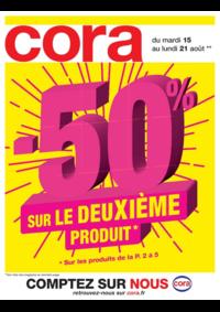 Prospectus Cora ERMONT : -50% sur le deuxième produit