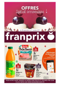 Prospectus Franprix PARIS 19 rue Brezin : Offres spécial anniversaire !