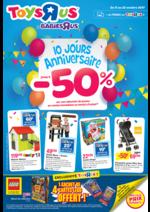 Prospectus Toys R Us : 10 anniversaire jusqu'à -50%