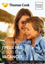 Catalogues et collections Thomas Cook : Collection voyages Hiver 2017-2018