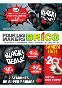 Prospectus Brico ANDERLECHT Tweestationsstraat : Black friday