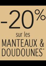 Promos et remises Jacqueline Riu : -20% sur les manteaux et doudounes