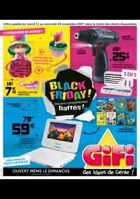 Prospectus Gifi LOCHES : Black friday ! Des prix complètement barrés !