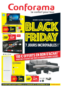 Prospectus Conforama COLOMBES : Black friday 7 jours incroyables !
