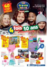 Prospectus La grande Récré PARIS 120 rue d'Alésia : 4 fois 10 ans