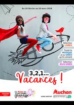 Prospectus Auchan : 3 2 1... vacances !