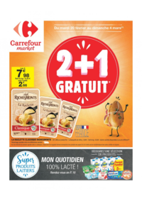 Prospectus Carrefour Market LOUVIERS : 2+1 gratuit