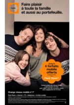 Prospectus Orange : Faire plaisir à toute la famille et aussi au portefeuille