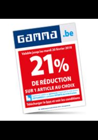 Promos et remises GAMMA UCCLE : 21% de réduction sur un article au choix
