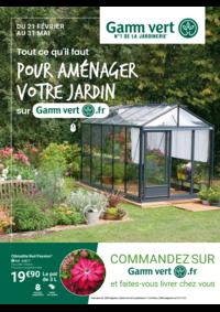 Prospectus Gamm vert GARIDECH : Pour aménager votre jardin