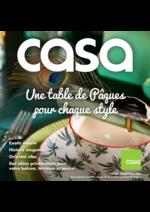 Prospectus Casa : Une table de pâques pour chaque style