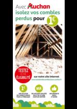 Promos et remises  : Avec Auchan isolez vos combles perdus pour 1€