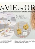 Catalogues et collections Auchan : La vie en Or baptême communion