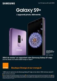 Prospectus Orange : Galaxy S9+ L'appareil photo. Réinventé.