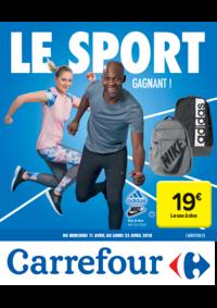 Prospectus Carrefour AUDERGHEM / OUDERGHEM : Le sport gagnant !