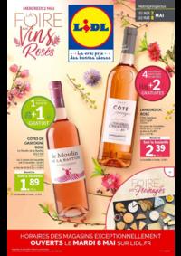 Prospectus Lidl MASSY ZAC du Moulin - Avenue du Bel Air : La foire aux vins rosés