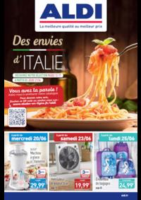 Prospectus Aldi Epinay-sur-Seine : Des envies d'Italie
