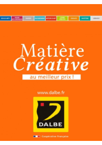 Prospectus Dalbe PARIS 28 boulevard Arago : Matière Créative