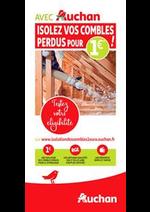 Prospectus  : Avec Auchan, isolez vos combles !