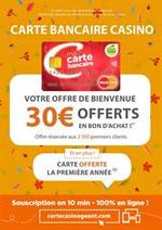 Prospectus Géant Casino : Votre offre de bienvenue, 30€ offerts en bon d'achat !