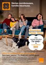 Prospectus  : Orange - Séries nombreuses, famille heureuse.