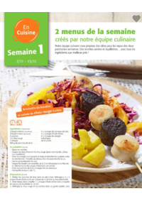 Menus Colruyt ALSEMBERG :  2 menus pour la semaine