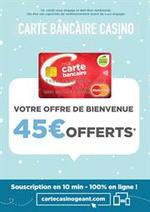 Prospectus Géant Casino : Offre de bienvenue carte bancaire Casino