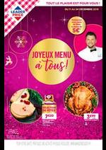 Promos et remises  : Joyeux menu à tous !