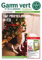 Prospectus Gamm vert : Tout pour des animaux en fête