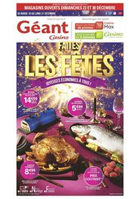Prospectus Géant Casino SAINT GRÉGOIRE : Faites les fêtes - Joyeuses économies à tous !